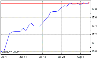 1 Month United States Dollar vs New Turk Chart